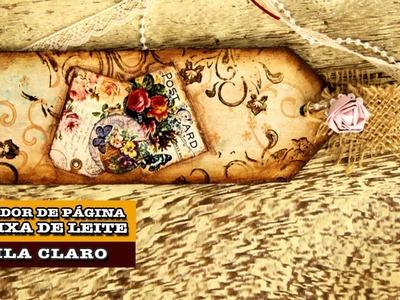 08.10.2014 - Marcador de Página de caixa de leite (Camila Claro)