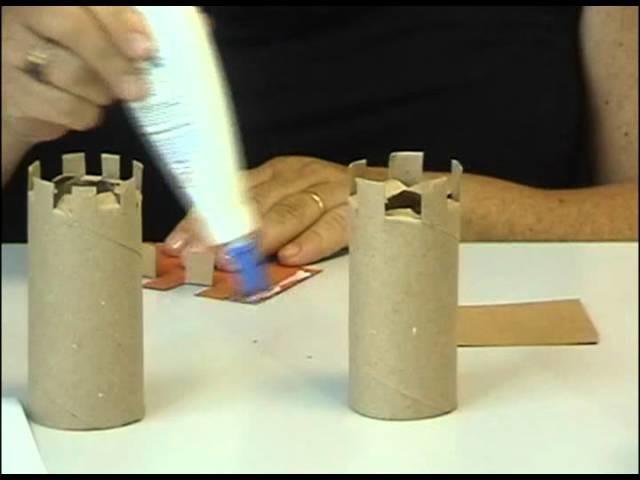 Arte - Castelo de rolo de papel higiênico