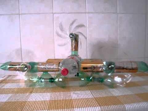 Aviao de garrafa pet