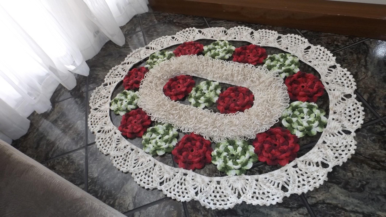 Como executar e unir a flor do tapete Flores de Jardim Parte 1.3