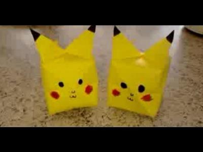 Como fazer: Origami - Pikachu