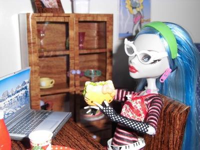 Como fazer um notebook para boneca Monster High, Pullip, Barbie e etc