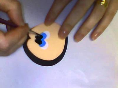 Como pintar olhinhos com stencil feito em casa