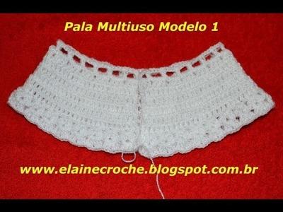 CROCHE PARA CANHOTOS - LEFT HANDED CROCHET - PALA MULTIUSO MODELO 1
