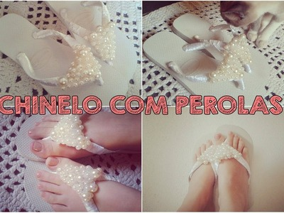 DIY:Chinelo com perolas | BEAUTY SECRETS♥