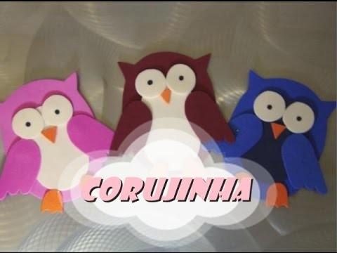 DIY.: Corujinha (simples) - E.V.A art