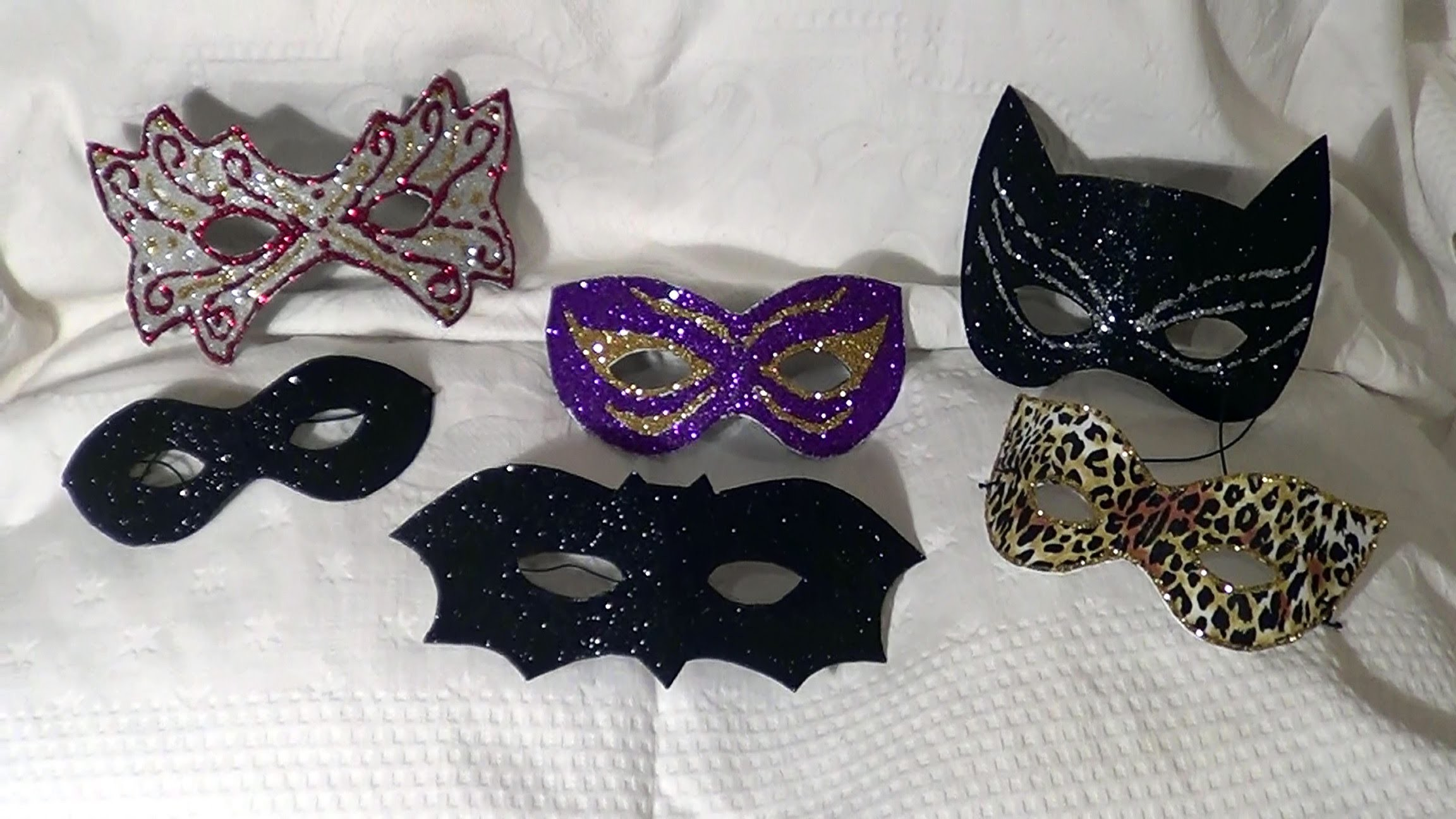 DIY -  Máscaras de Carnaval e Halloween - Carnival and Halloween masks