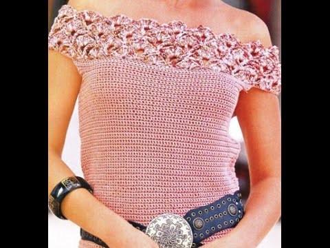 Esquemas para tejer blusa a crochet fácil