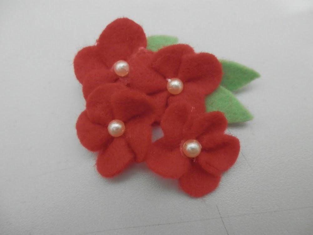 Flor de feltro 7
