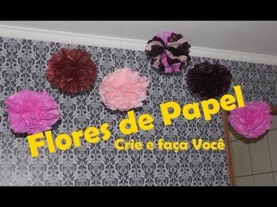Flores.Pompons de Papel de seda  #CeFV #EspecialDeAniver