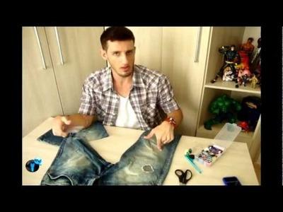 GDGVlog #14   Custom - Transformando Jeans velho em bermuda