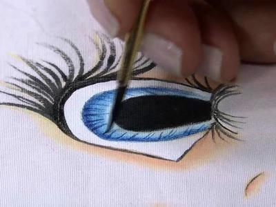 Mulher.com 04.07.2014 Bete Alcantra - Pintura tecido rosto de boneca Parte 2.2