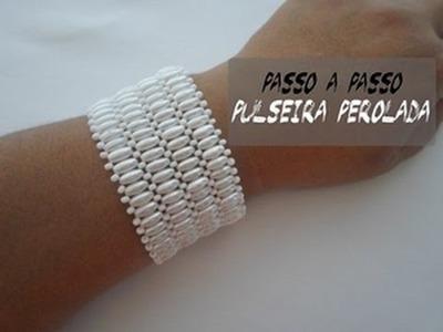 NM Bijoux - Pulseira Perolada - passo a passo