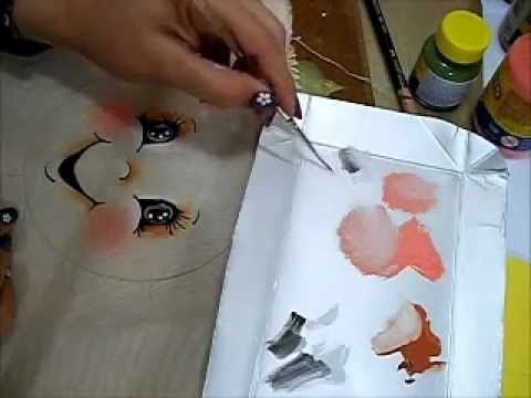 Olhinhos para Bonecas - Pintura em Tecido - Painting Eyes
