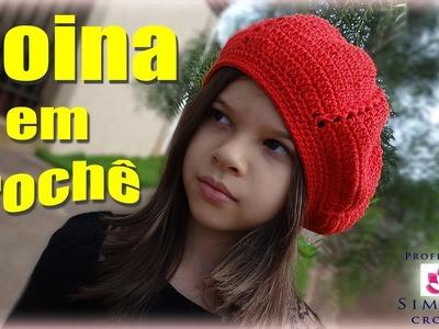 Passo a passo Boina infantil em Crochê Duna - Professora Simone
