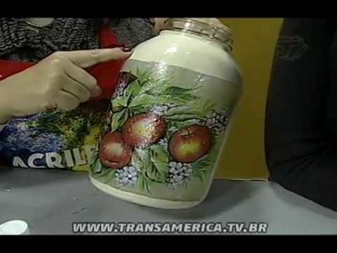 Tv Transamérica - Artesanato: Técnica de craquele em vidro em relevo - Parte 2