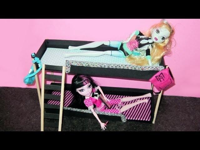 Manualidades para muñecas: Haz una cama litera para tu muñeca Monster High