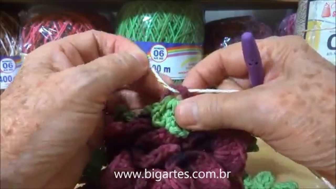 Aprenda a fazer: Square de crochê BIG artes.com.br