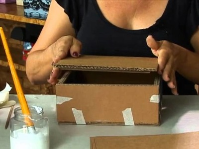 Aprenda a fazer uma caixa que imita o mdf