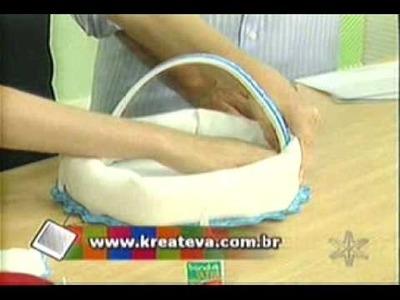 Artesanato de Pascoa: Cestinha de Páscoa em EVA
