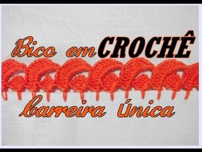 BICO EM CROCHÊ CARREIRA ÚNICA