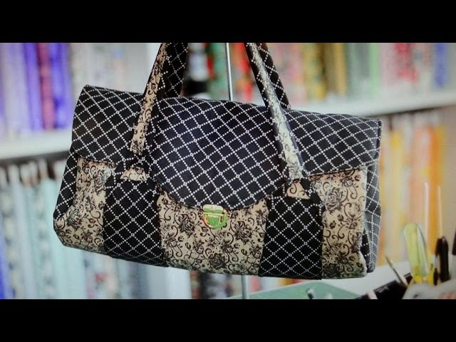 Bolsa em tecidos Caroline - Maria Adna Ateliê - Cursos e aulas de bolsas em tecidos