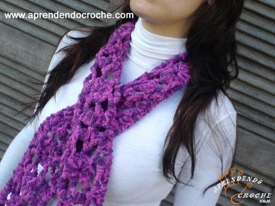 Cachecol Croche Ternura - Aprendendo Crochê