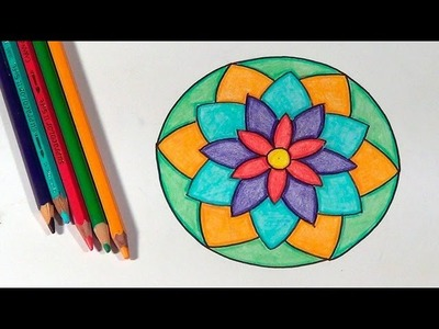 Como desenhar mandalas - How to draw mandalas - Cómo dibujar mandalas