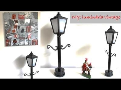 DIY: Luminária vintage
