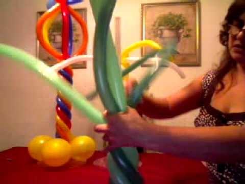 DIY: Palm Tree Balloon Centerpiece . Como Fazer Uma Palmeirinha Para Centro de Mesa