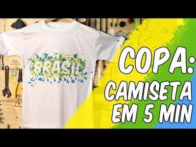 Faça camiseta para a Copa em 5 min sem gastar nada (reciclagem)