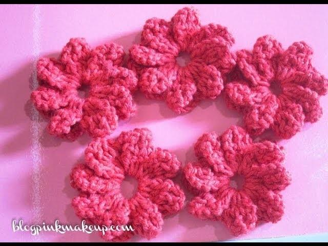 Flor de Croche Catavento - Passo a Passo