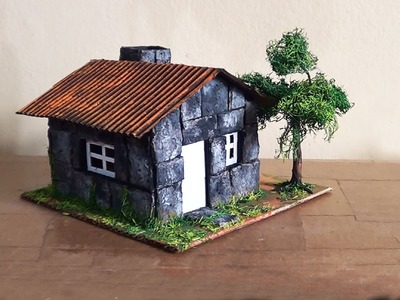 Maquete Casa de Pedra. Maquette Stone House. Casa De Piedra