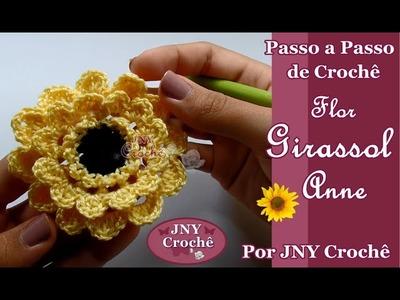 Passo a Passo de Crochê Flor Girassol Anne por JNY Crochê