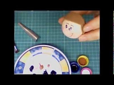 Pintando o rostinho de um fofucho