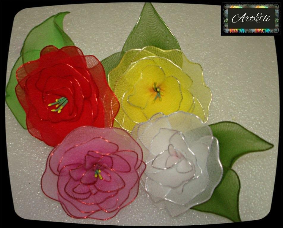 Rosas Feitas com Meia de Seda  - Como fazer ?