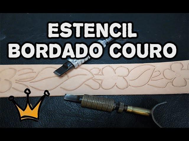 #1 - Estêncil para Bordado em Couro - Carving Liather Craft