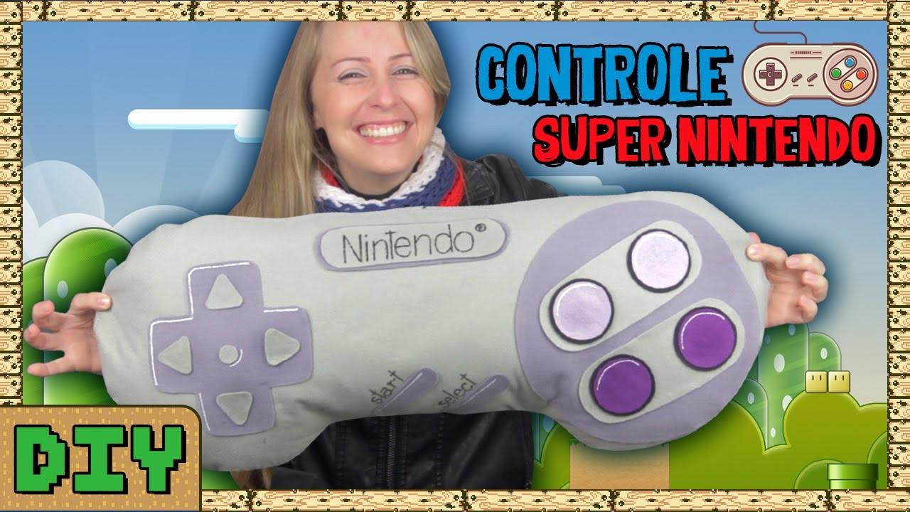 Almofada Controle Super Nintendo | DiY Geek