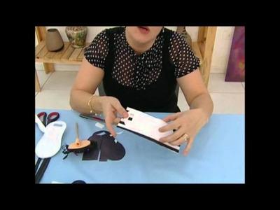 Artesanato em EVA - Chinelo porta celular e carregador