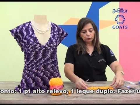Blusa Cristiane em croche com Camila fashion