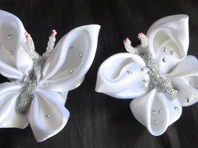 Butterfly -Borboleta Feita de fitas ou tesido Passo a Passo