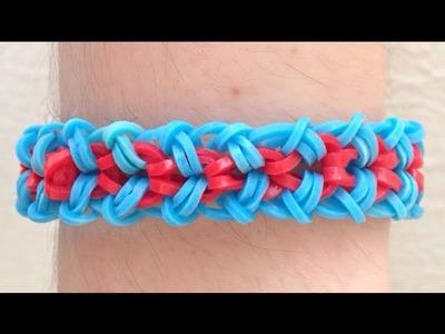 Como fazer pulseira de elástico: Venice Bracelet #LoomBands (sem tear)
