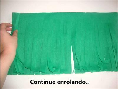 Como fazer um pompom de papel crepom