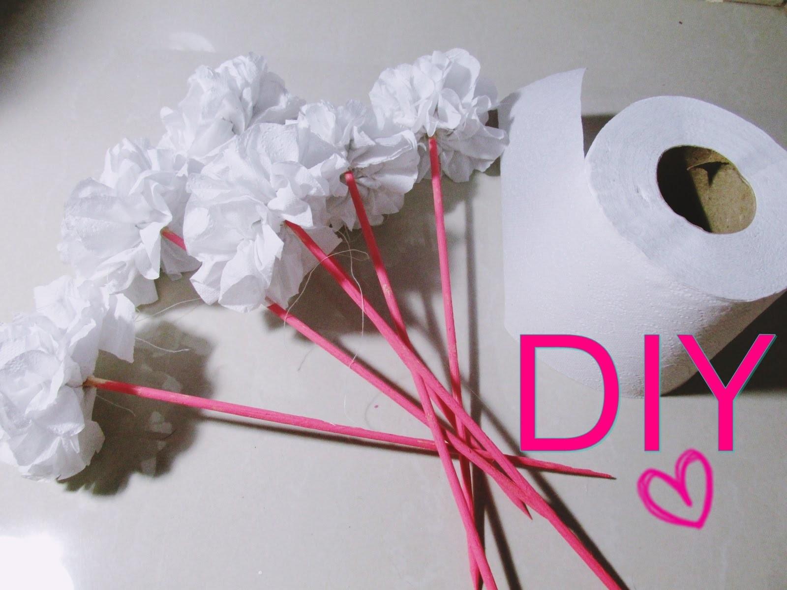 DIY.Faça você mesma : Flor feita com papel higiênico | Dica de decoração