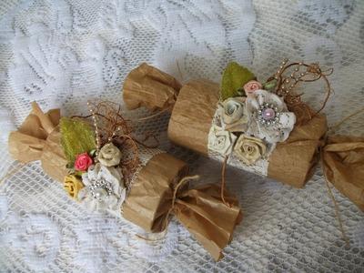DIY: Faça voce mesma lindas lembrancinhas vintage com rolo de papel higienico