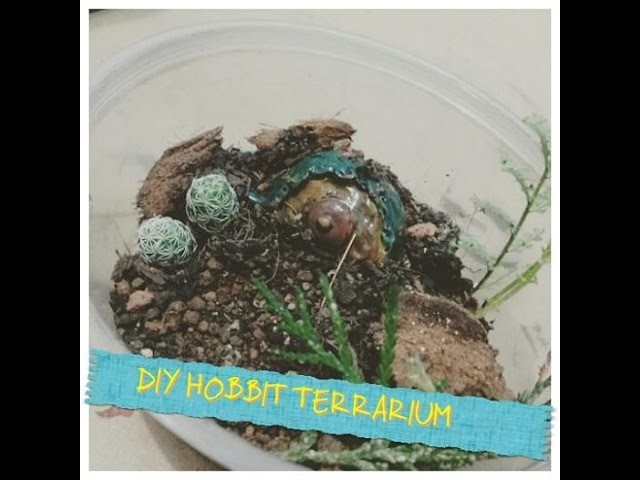 DIY Mini Hobbit Terrarium - (Eng sub)