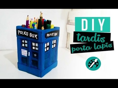 DIY PORTA LAPIS DOCTOR WHO ❤ tutorial tardis - GEEK TUTORIAIS