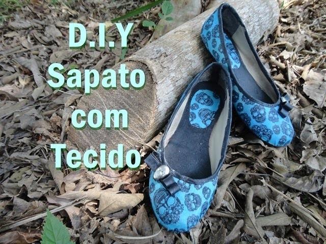 DIY✄:Sapato com Tecido