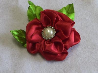 Fabric flower tutorial- Flor em Cetim com Novo modelo de Petulas Passo a Passo