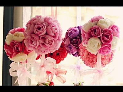 Faça você mesma: Bola de Flor - Decoração p. festas e ambientes